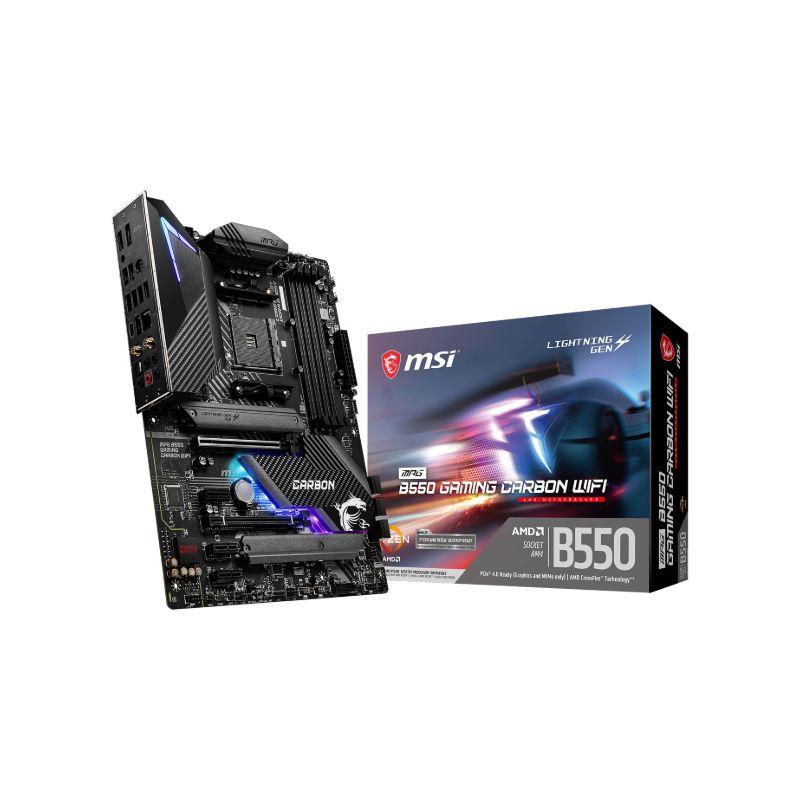 msi amd b550 mpg gaming carbon wifi atx motherboard a