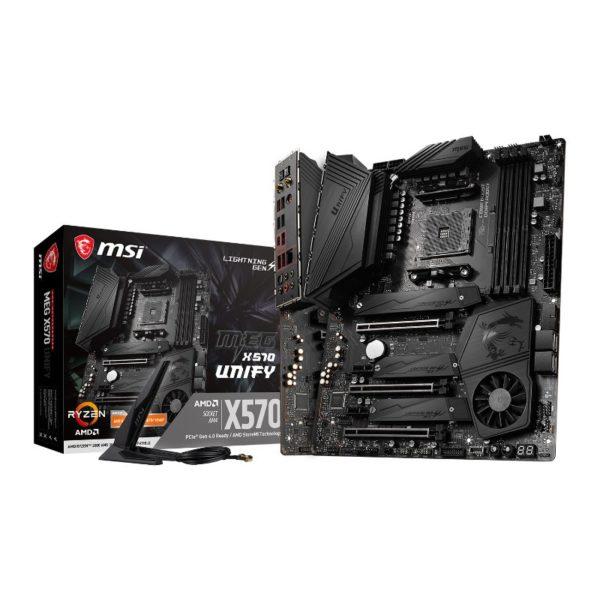 msi amd ryzen meg x570 unify am4 motherboard a