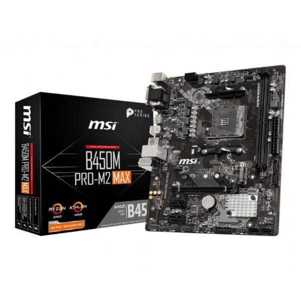 msi b450m pro m2 max am4 motherboard a