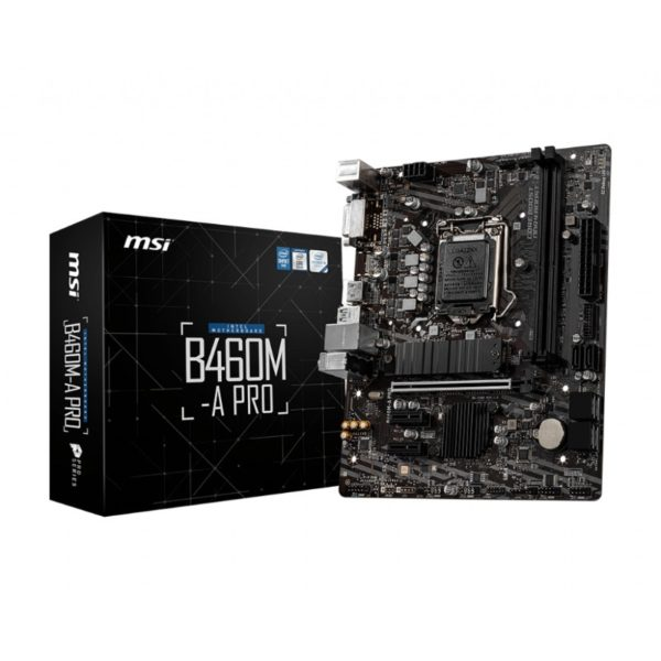 msi b460m a pro intel lga 1200 motherboard a