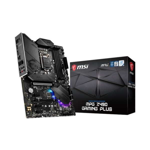 msi mpg z490 gaming plus intel 10th gen atx motherboard a