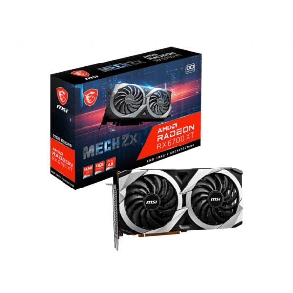 msi radeon rx 6700 xt mech 2x 12g oc graphics card a