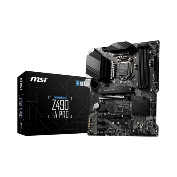 msi z490 a pro intel 10th gen atx motherboard a