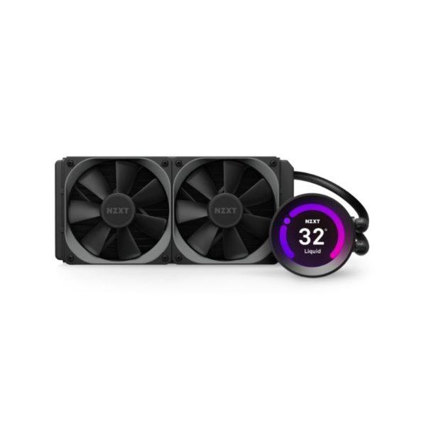 nzxt kraken z53 240mm aio liquid cooler with lcd display a