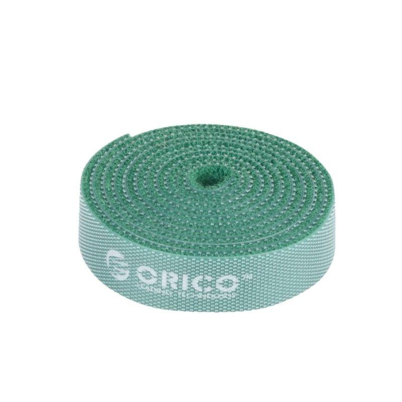 orico 1m velcro cable tie green b