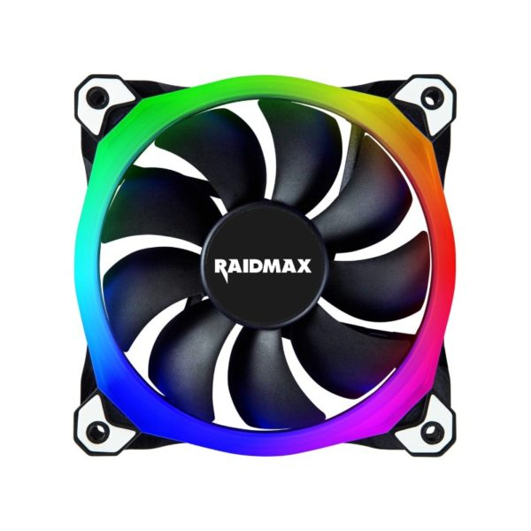 raidmax 120mm chroma rgb led case fan a