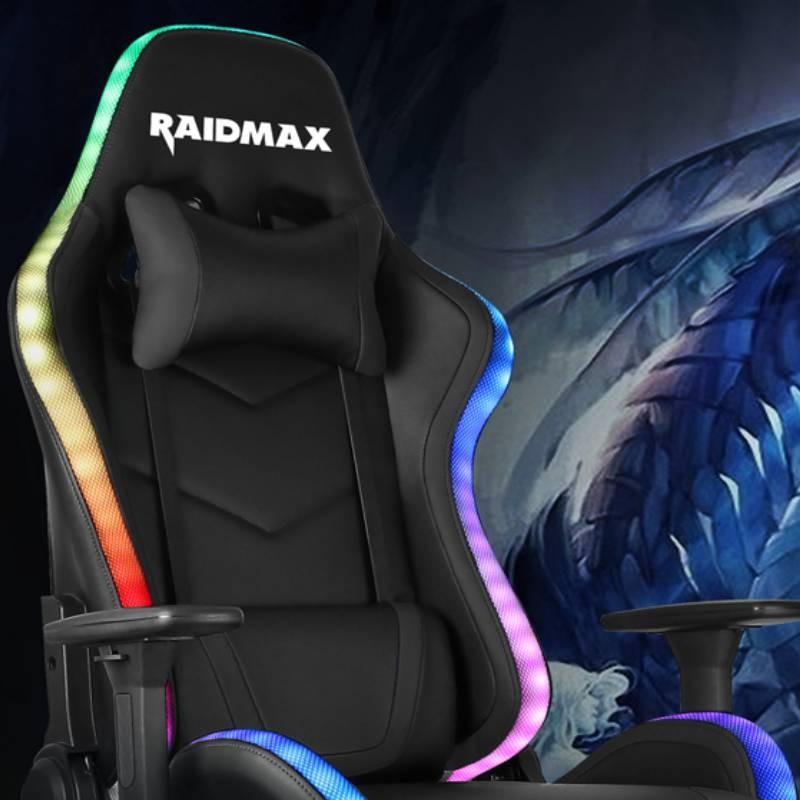 raidmax dk925 argb gaming chair blue b