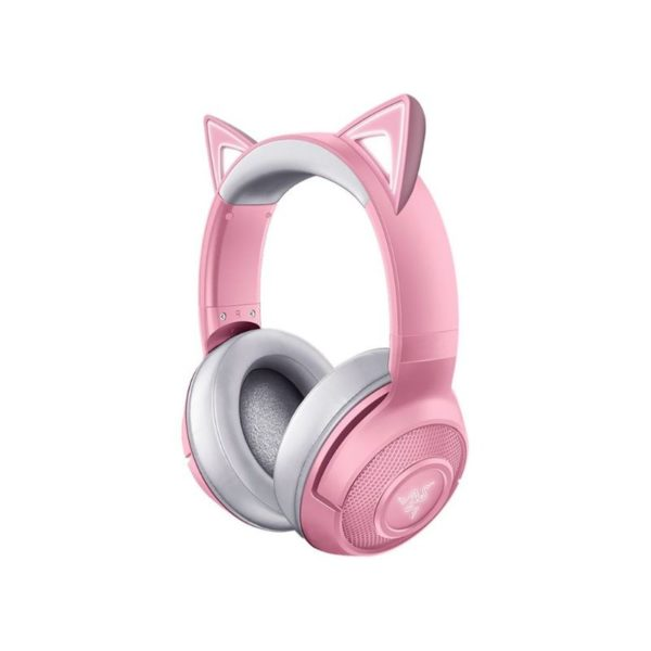 razer kraken bt kitty edition wireless bluetooth gaming headset quartz pink a
