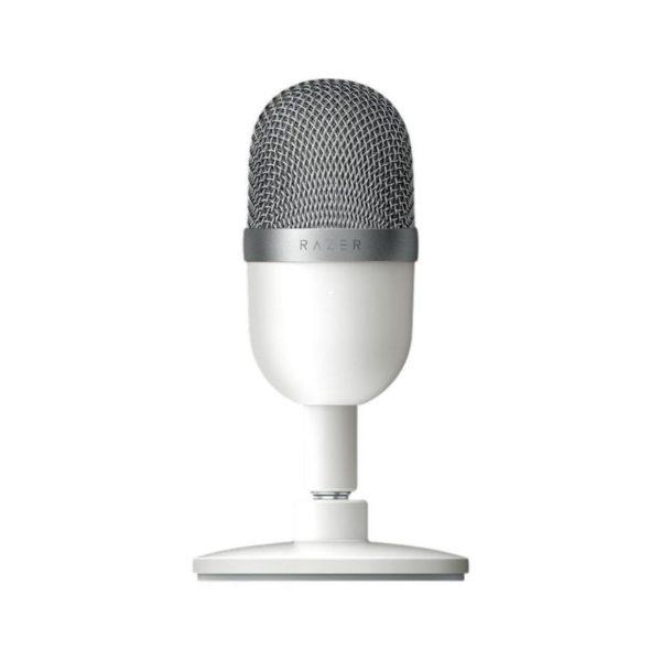 razer seiren mini ultra compact streaming microphone mercury white a