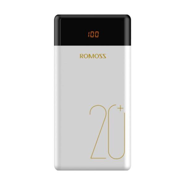 romoss lt20 pro 20000mah dual usb type c power bank white a