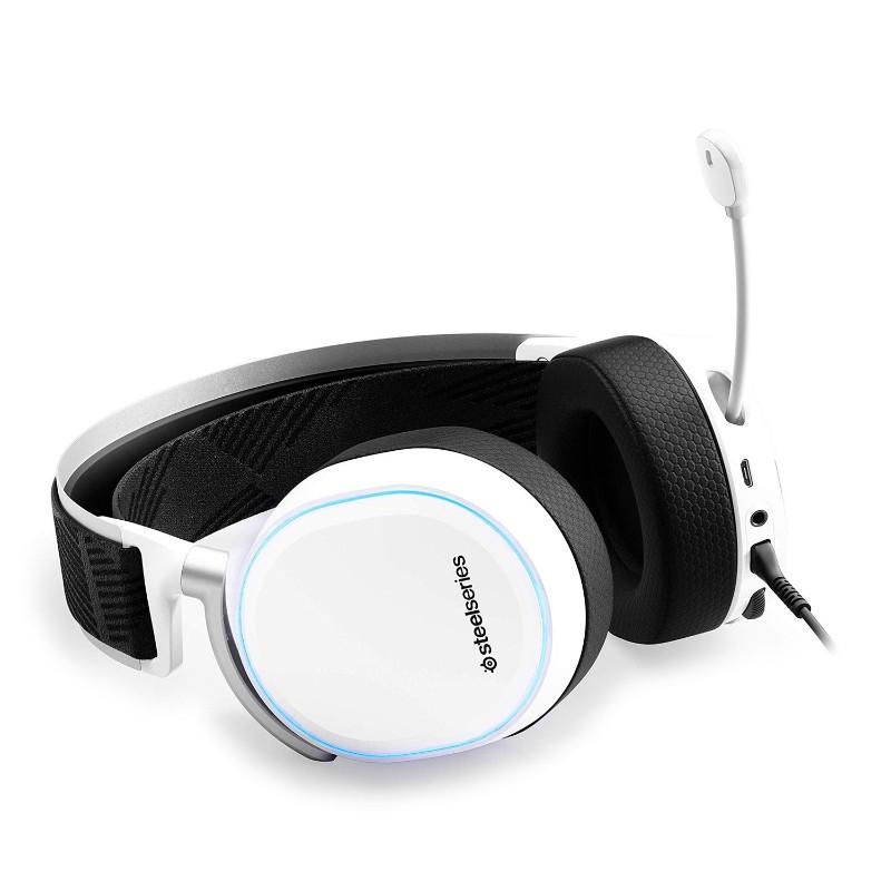 steelseries arctis pro gamedac gaming headset white b