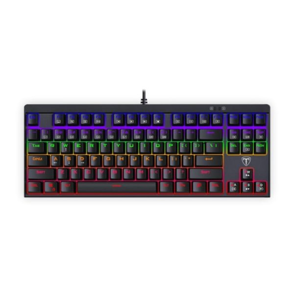 t dagger corvette tkl rainbow mechanical gaming keyboard a