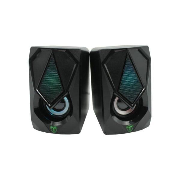 t dagger stereo 2 0 rgb pc speaker set a