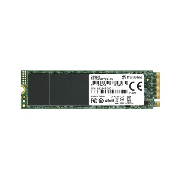 transcend mte110 256gb m 2 pcie nvme solid state drive a
