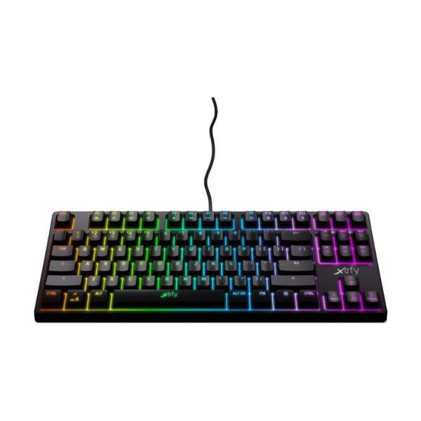 xtrfy k4 tkl rgb mechanical gaming keyboard black a
