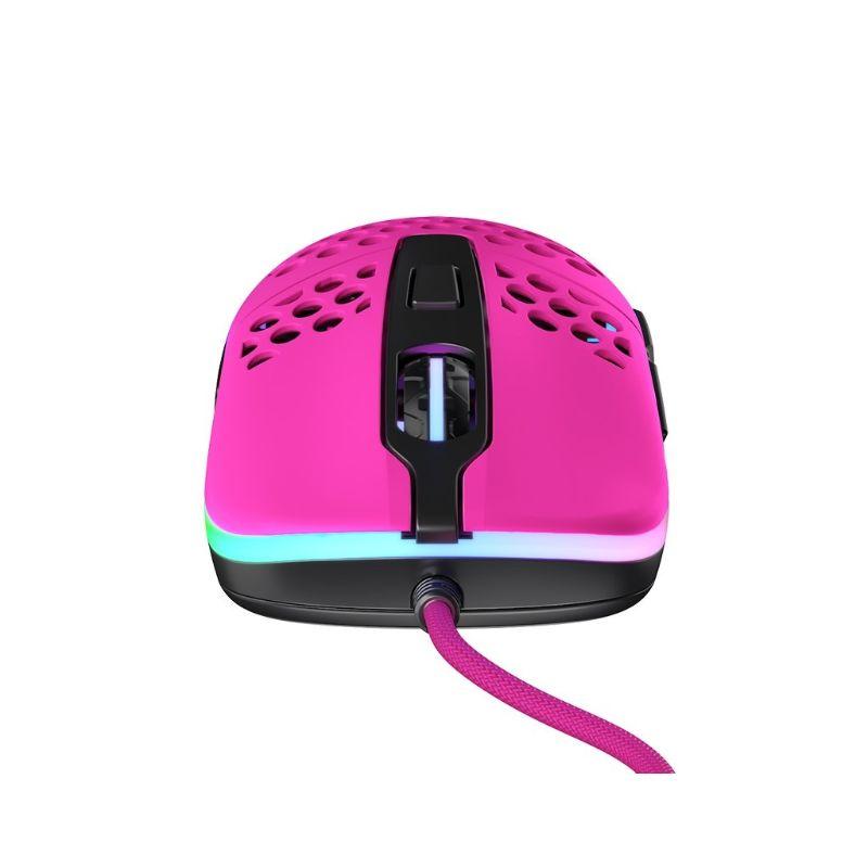 xtrfy m42 rgb ultra light gaming mouse pink c