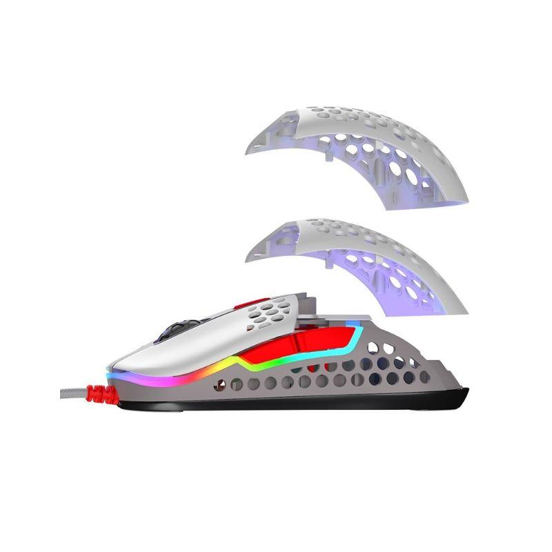 xtrfy m42 rgb ultra light gaming mouse retro h